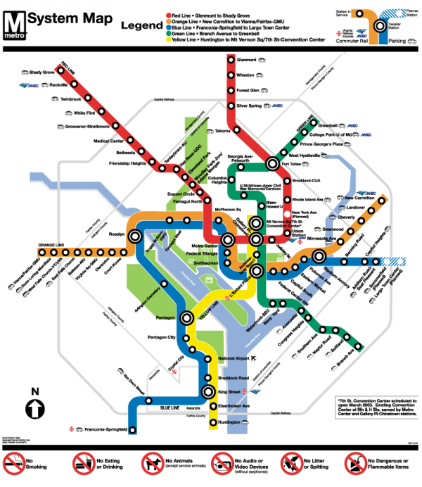 Small map of the DC Metro